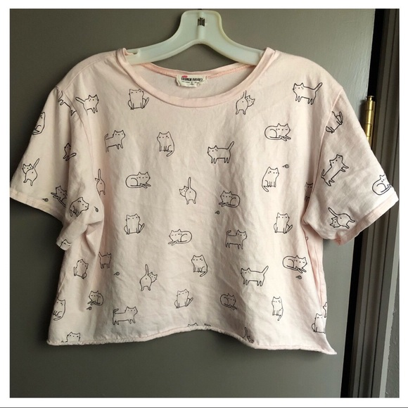 french pastry Tops - pastel pink cat French Pastry top